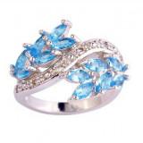 Inel de argint cu pietre bleu - Inel argint, 57 - 67