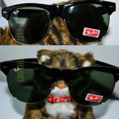 Ochelari de soare Ray Ban, Unisex, Verde, Pilot, Plastic - Ochelari RAY BAN de soare CLUBMASTER POZE REALE