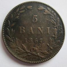 Monede Romania, An: 1884 - 5 bani 1867 frumos