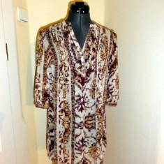 Tunica de voal in nuante de maro, marca HM, femei marimea 32 - Bluza dama H&m, Culoare: Multicolor, Casual