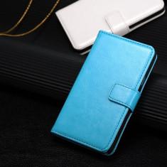 Husa/toc piele fina SAMSUNG GALAXY S2 / S2 PLUS, flip cover portofel, ALBASTRU