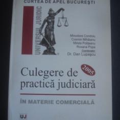 DAN LUPASCU - CULEGERE DE PRACTICA JUDICIARA IN MATERIE COMERCIALA 2005