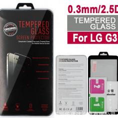 Folie protectie din sticla securizata pt LG G3 9H 0.3mm 2.5D tempered glass - Folie de protectie
