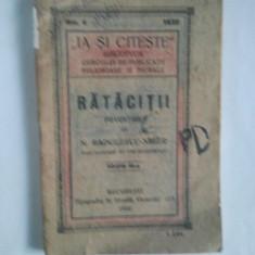 RATACITII - N. RADULESCU - NIGER { RARITATE - 1920 } ( A 178 ) - Carte de lux