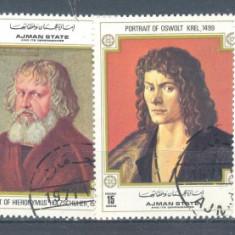 Ajman Pictura Durrer serie stampilata 1972 - Timbre straine, Arta