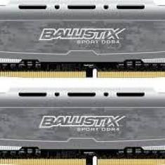 Memorie Crucial Memorie Crucial Ballistix Sport 16GB DDR4, 2400MHz, CL16, BLS2C8G4D240FSB - Memorie RAM