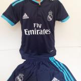 Set echipament fotbal - Echipamente sportive copii REAL MADRID - RONALDO bleumarin model 2016