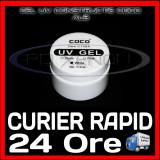 GEL UV ALB (WHITE) COCO 15ML - CONSTRUCTIE MANICHIURA FRENCH, UNGHII FALSE GEL - Gel unghii