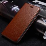 Husa/toc piele bovina - slim iPHONE 6, flip cover deschidere laterala, MARO - Husa Telefon Apple, Cu clapeta