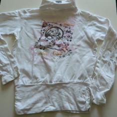 Bluza, bluzita tip helanca, fetite, 7-9 ani, WinK Zanele Wink, ideala colanti, Culoare: Alb, Fete
