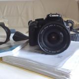 DSLR Canon, Kit (cu obiectiv) - Canon EOS 400D Kit (obiectiv + acumulatori + manual)