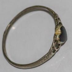 Inel vechi din argint cu piatra onyx(14) - Inel argint