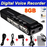 Reportofon digital Profesional 8 GB - 850 Ore  - MP3 Player - Activare vocala -