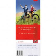 Harta Turistica - Schubert & Franzke Harta de cicloturism 100 de excursii in jurul Clujului MB01