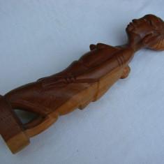 Frumoasa sculptura in lemn de esenta exotica - arta africana