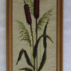 Tapiterie Goblen - GOBLEN-PAPURA-inramat, vintage