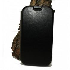 Husa ZTE Blade Q Maxi Orange Reyo piele ecologica neagra - Husa Telefon ZTE, Negru