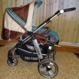 Carucior copii CHIC4Baby, import Germania  reversibil, cu roti mari + landou