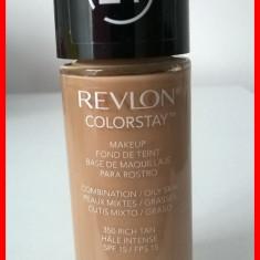 Revlon COLORSTAY - ten mixt / gras / oily - 350 RICH TAN - Fond de ten