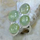 Superb inel stantat argint 925 cu Prehnit. Marimea 7 - descriere cristal - Inel argint