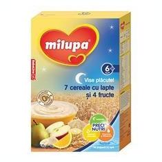 Milupa Vise Placute 7 Cereale cu Lapte si 4 Fructe 6+Luni 250gr Cod: 5900852015328