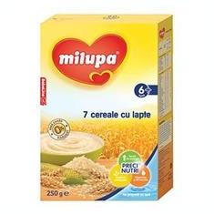 Milupa 7 Cereale cu Lapte 6+Luni 250gr Cod: 4008976578642