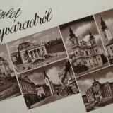 Oradea, Nagyvarad, Bihor - Vedere 6 imagini anii 40- Piesa de colectie ! - Carte Postala Transilvania 1904-1918, Necirculata