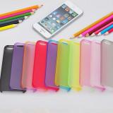 Husa Ultra Slim  iPhone 5/5S 0. 3mm 7 culori Transparenta Neagra Mov Albastra  Roz Rosie  Verde | husa iphone ultraslim | CEL MAI MIC PRET GARANTAT