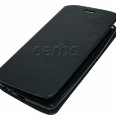 HUSA LG G3 - Husa Telefon LG, Alcatel OT-918, Negru, Piele Ecologica, Cu clapeta