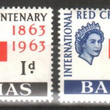 "Timbre straine, An: 1963, Nestampilat - Anglia / Colonii, BAHAMAS, 1963, ""Centenar - Crucea Rosie"" - seria Omnibus, nestampilate, MH"