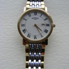 Ceas Rotary Barbatesc Mens Watch Auriu Slim Subtire Elegant Gold GB77835/32 - Ceas barbatesc Rotary, Lux - elegant, Quartz, Inox, Data