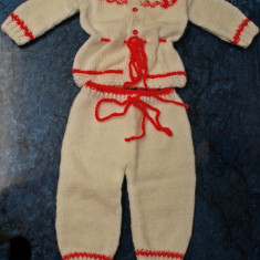 Haine Copii 0 - 6 luni - Costumas bebe 4 piese mohair tricotat manual - LA COMANDA