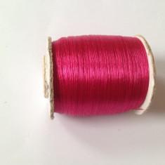 Fir de tricotat sau crosetat, moale, de tip matase fucsia
