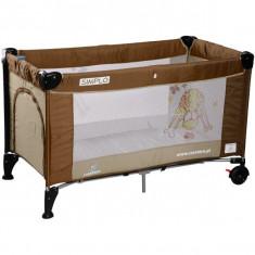 Patut pliant bebelusi - Pat pliant Simplo 120 x 60 cm Brown Caretero