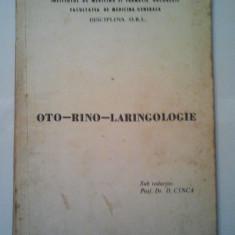 CURS DE OTO-RINO-LARINGOLOGIE - D. CINCA ( 1112 ) - Curs Medicina