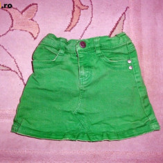 Haine Copii 4 - 6 ani, Fuste, Fete - Fusta de blugi verde, marca EXIT, fetite 5-6 ani