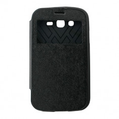Toc My-Wow Samsung Galaxy Grand I9082 Negru - Husa Telefon Atlas, Piele Ecologica
