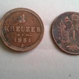 Moneda Medievala - 1 KREUZER 1851 A+CADOU 1 KREUZER 1800 MODEST, 100 LEI REGE MIHAI