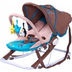 Sezlong pentru Copii Aqua Brown - Balansoar interior Caretero