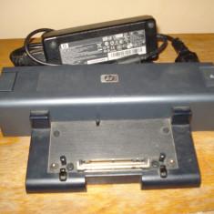 Doking station laptop HP HSTNN-IX01 + incarcator original HP 120W - Docking station