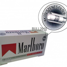 Foite tigari - Tuburi MARLBORO RED CU CARBON ACTIV 200 tuburi, pentru injectat tutun, tigari