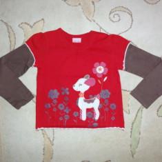 Haine Copii 4 - 6 ani, Bluze, Fete - Bluzita cu caprioara brodata, marca Cherokee, fete 3-4 ani