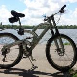 Mountain Bike DHS, 18 inch, 26 inch, Numar viteze: 21, Aluminiu, Gri metalizat - Bicicleta MTB aluminiu - echipată Shimano