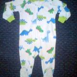 Pijama micropolar dinozauri, marca CARTERS, baieti 18 luni