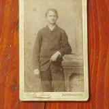 Fotografie veche cartonata /portret - fotograf Berky Dezso - Szatmaros - 1887 !!