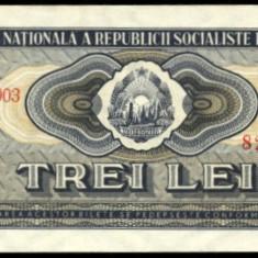 Bancnote Romanesti, An: 1966 - V002 3 LEI 1966 NECIRCULATA UNC