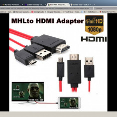 Adaptor HDMI - MHL Micro USB 11pin to HDMI HDTV Samsung Galaxy Note 3, Samsung Galaxy Note 4