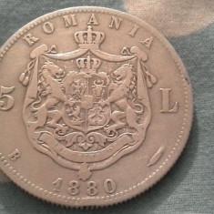Monede Romania - 5 LEI 1880 FRUMOS DE COLECTIE /3