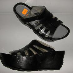 Sandale dama, Piele naturala - OFERTA! Saboti talpa ortopedica TSUBO ORIGINALI NOI piele manusa integral 37, 5!