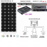 Sistem Solar Fotovoltaic Complet 100 W Panou monocristalin  Panouri Fotovoltaice